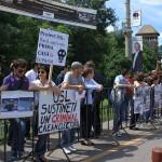 Protestul pentru romii de la Baia Mare