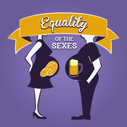 """Gender Equality Illustration - """"Equality of the sexes"""""""