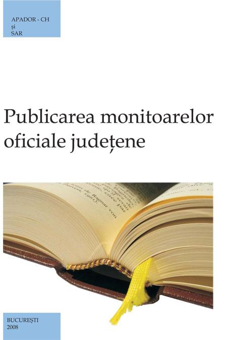 Publicarea monitoarelor oficiale judeţene